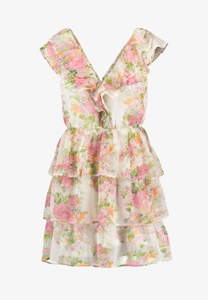 SHEER FRILL DRESS - Day dress - multi-coloured