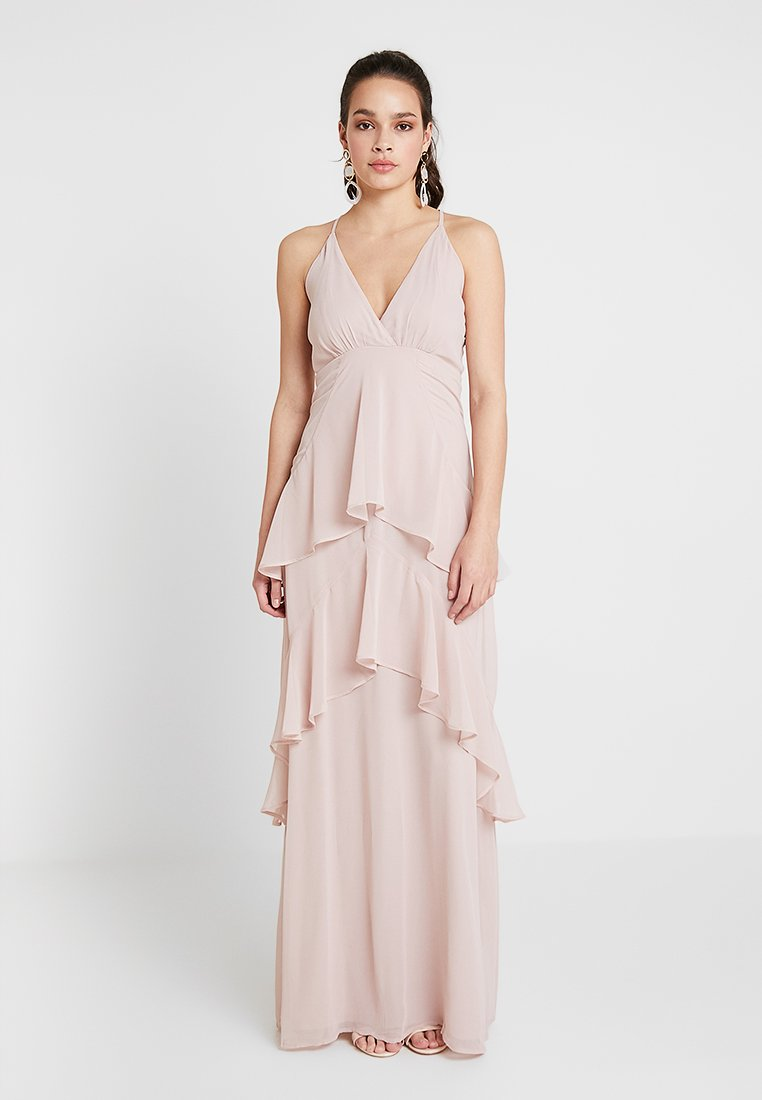 Nly by Nelly - FLOUNCE BOTTOM FRILL GOWN - Gallakjole - dusty pink