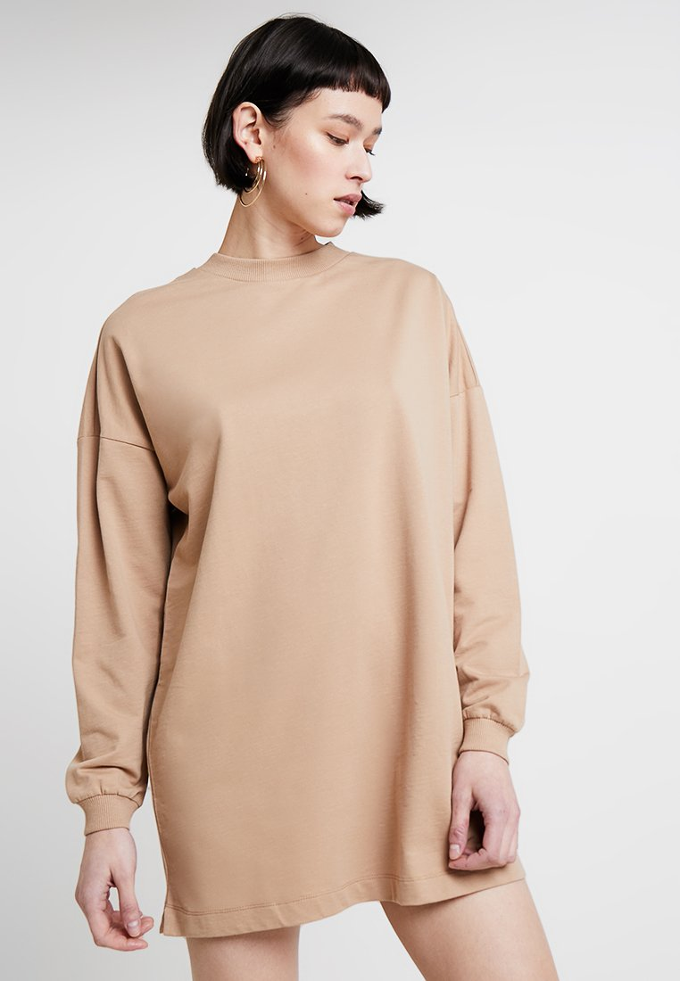 Nly by Nelly - THROUGH THE HOOD - Jerseykleid - beige