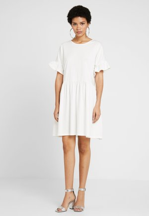 FRILL SLEEVE DRESS - Sukienka z dżerseju - white