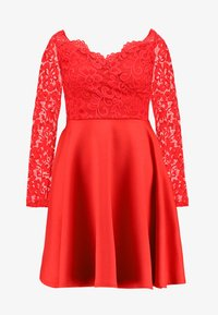 Nly by Nelly - OFF SHOULDER SKATER - Sukienka etui - red - 3