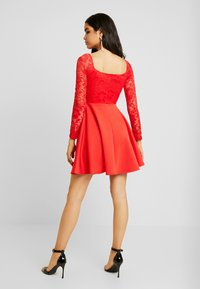 Nly by Nelly - OFF SHOULDER SKATER - Sukienka etui - red - 2