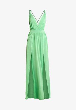 DOUBLE SLIT DRESS - Długa sukienka - neon green