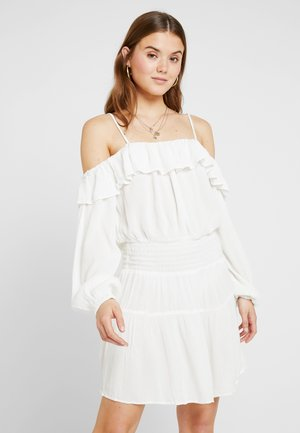 BOHO SMOCK DRESS - Sukienka letnia - white