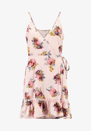 STRAPPY WRAP DRESS - Day dress - light pink