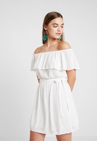 Nly by Nelly - SINGOALLA DRESS - Day dress - white - 0