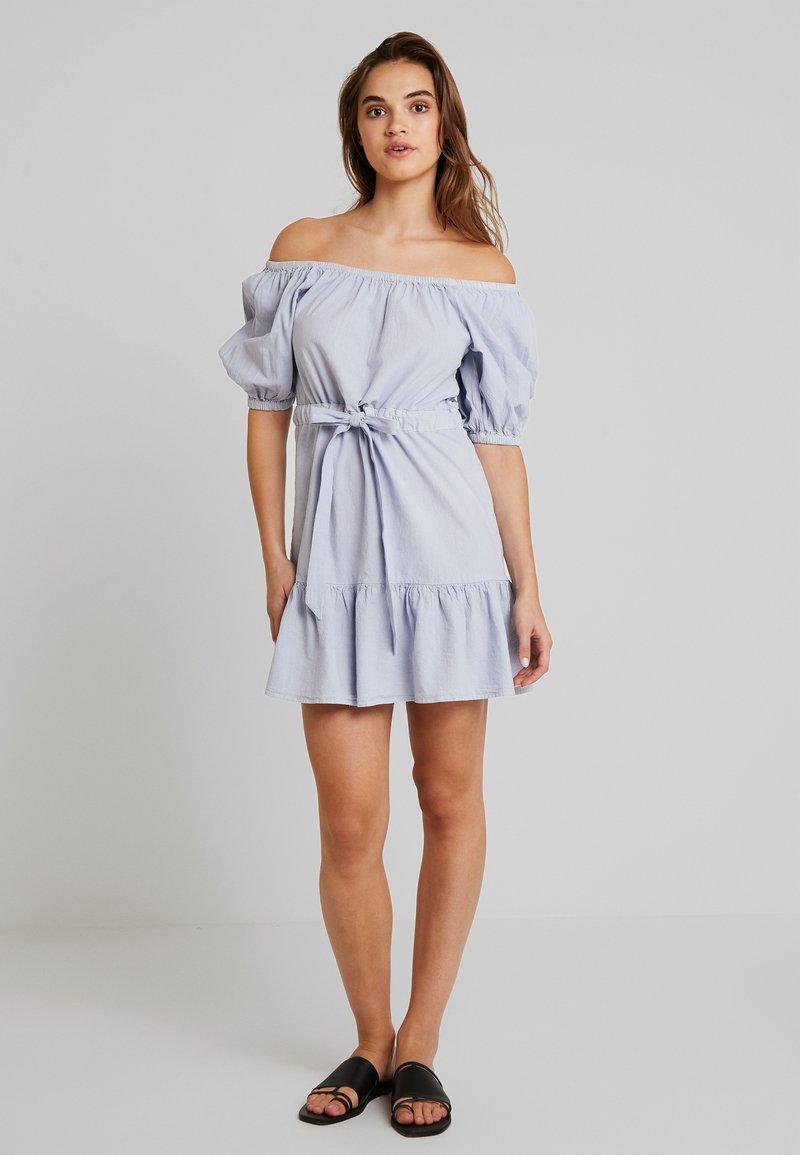 Nly by Nelly - PUFFY DANCE DRESS - Vestido informal - light blue