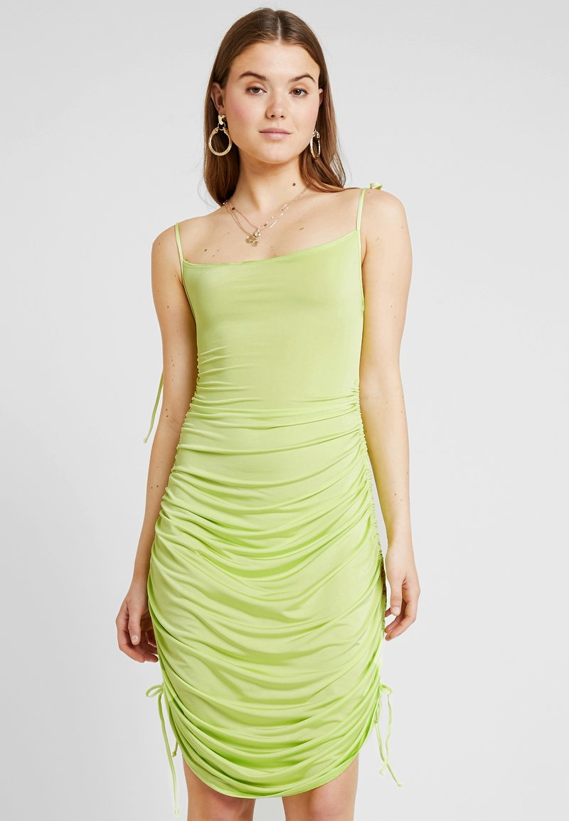 Nly by Nelly - DRAPY TIE DRESS - Etuikjole - lime