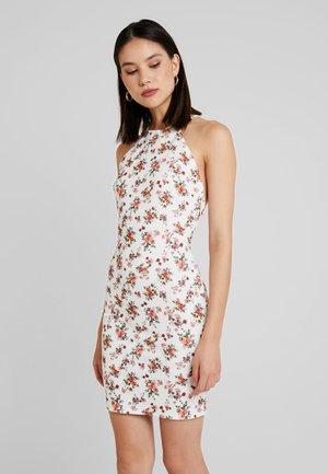 LOW BACK PRINT DRESS - Pouzdrové šaty - multi-coloured