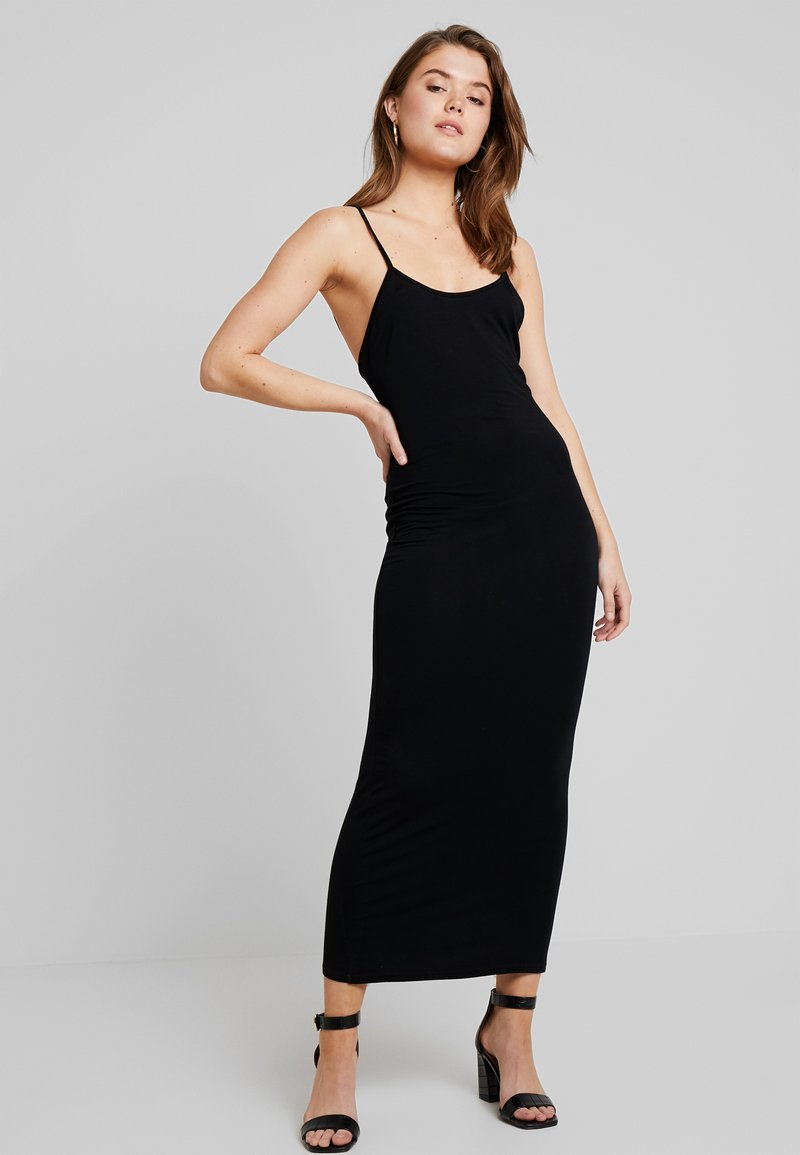 Nly by Nelly - FLIRTY BACK DRESS - Maxi dress - black
