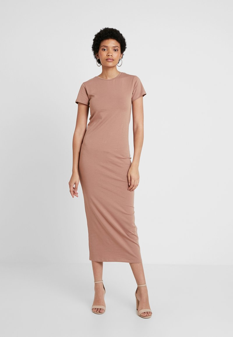 Nly by Nelly - TEE DRESS - Maxi dress - raw umber