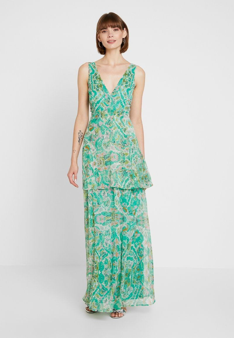 Nly by Nelly - DEEP PLUNGE FLOUNCE GOWN - Maxikjoler - multicoloured