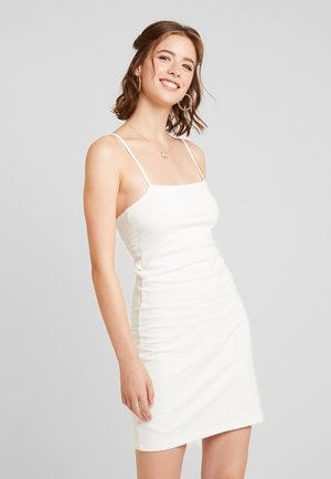 TIE BACK CUTE DRESS - Jerseyklänning - white