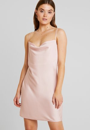 SLIP BACK DRESS - Denní šaty - light pink