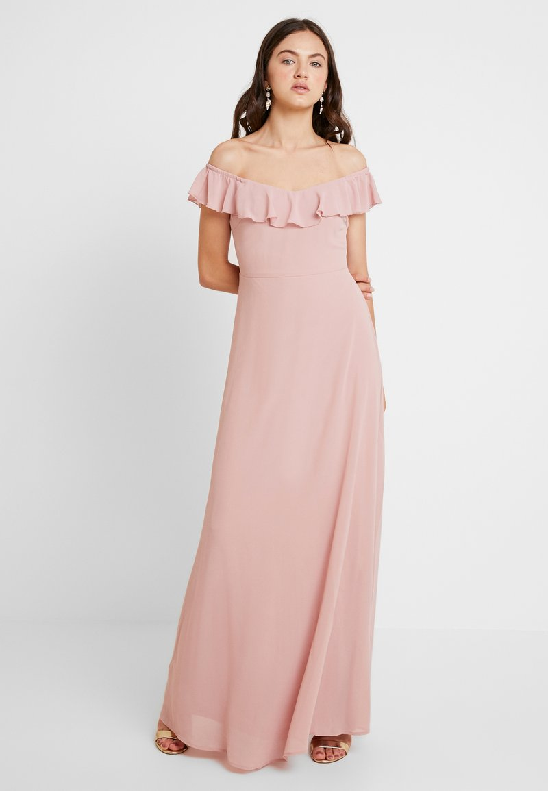 Nly by Nelly - OFF SHOULDER FLOUNCE GOWN - Vestido de fiesta - rose