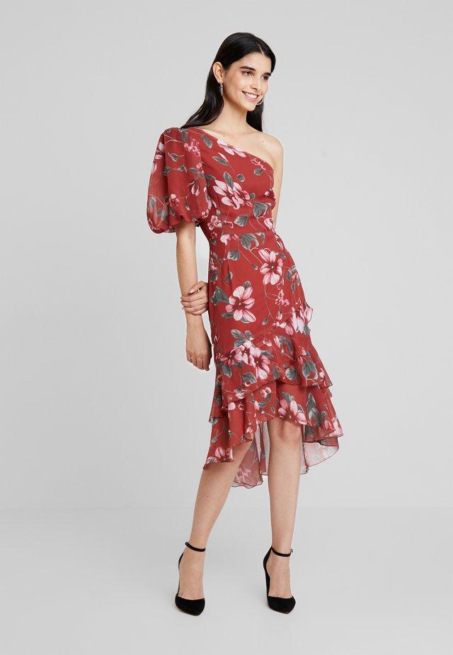 ONE SHOULDER FLOUNCE DRESS - Cocktailkleid/festliches Kleid - multi-coloured