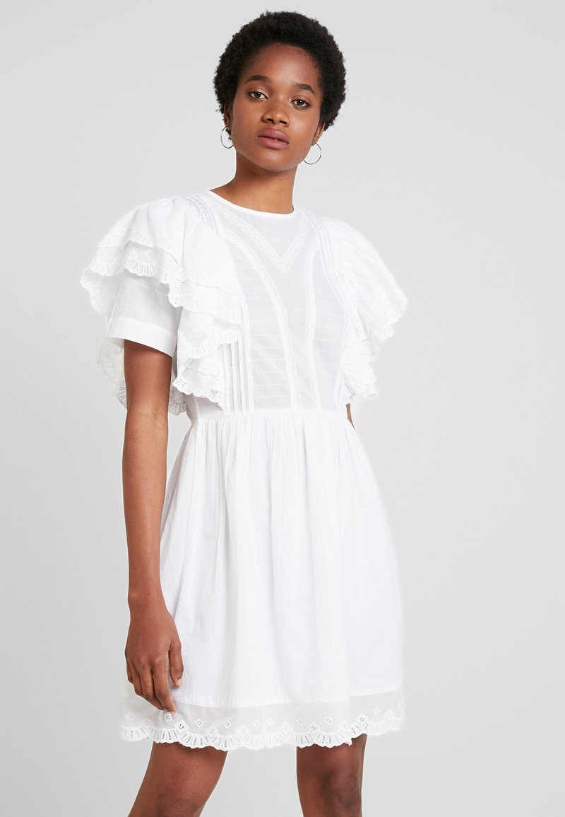 DressRobe White Boho Nly By D'été Nelly Frill fYgy76vb