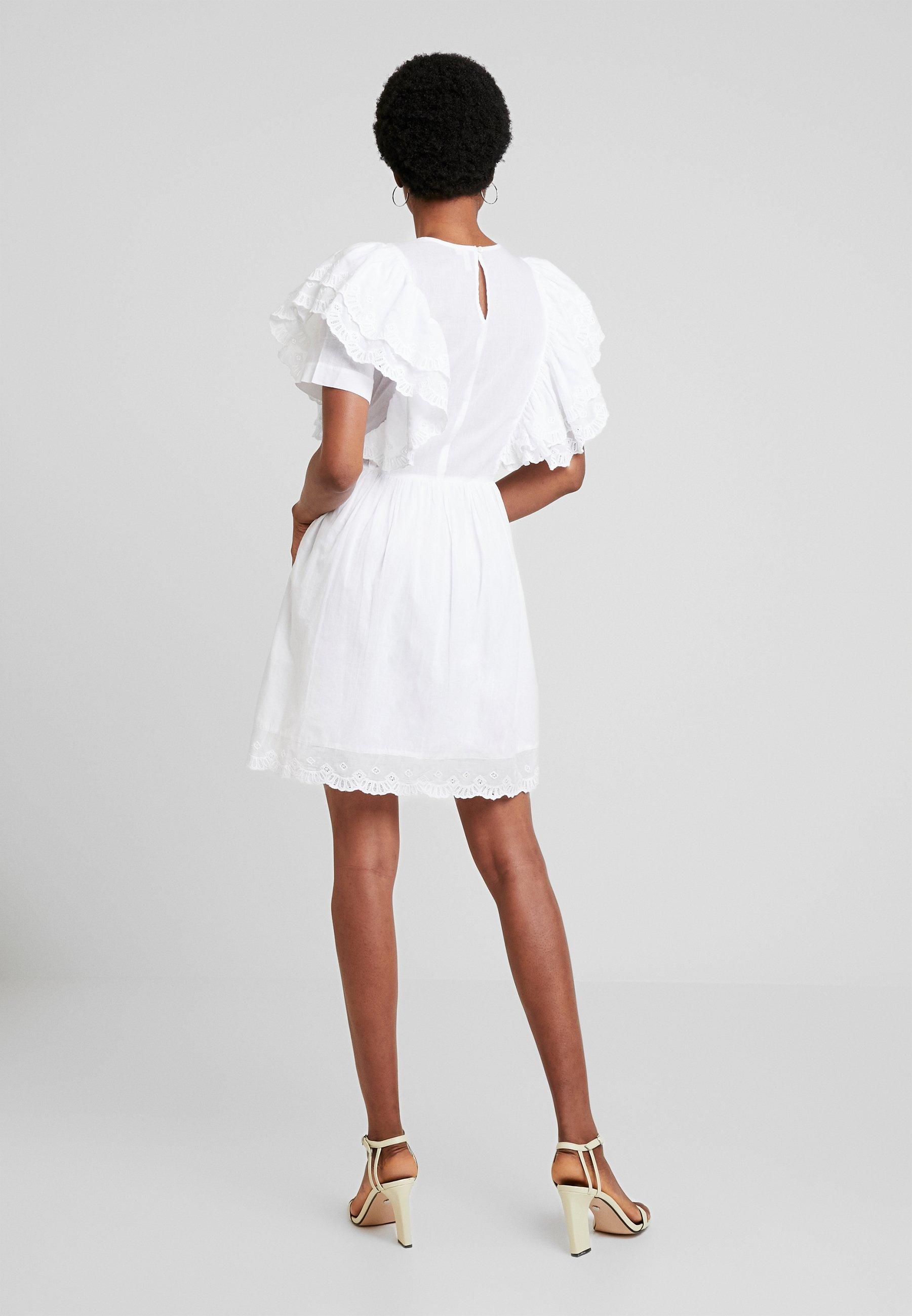 Nly Frill D'été White DressRobe Nelly By Boho vmN08nw
