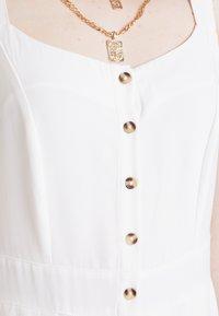 Nly by Nelly - FRONT BUTTON DRESS - Košilové šaty - white - 7
