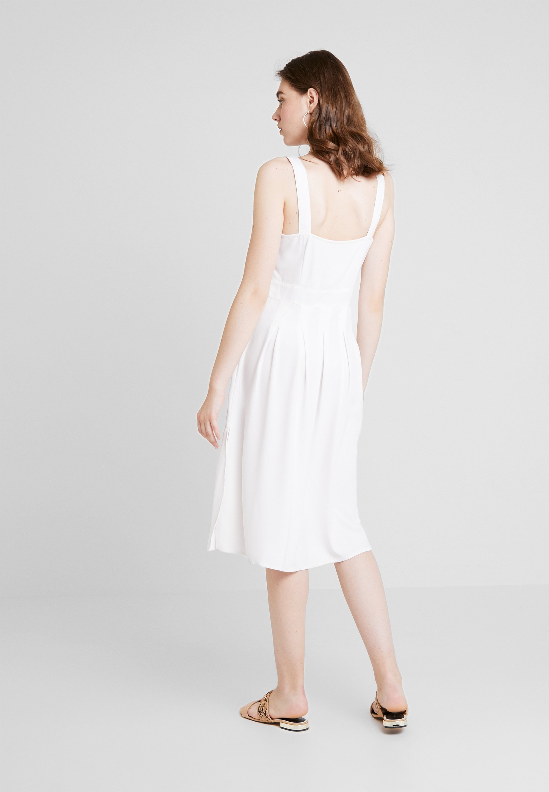 Nelly White DressRobe By Nly Front Button Chemise 1FKlJcT3