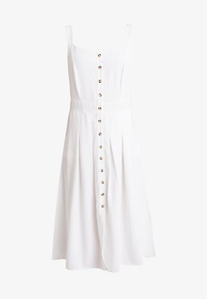 FRONT BUTTON DRESS - Robe chemise - white