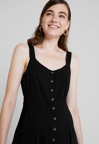 Nly by Nelly - FRONT BUTTON DRESS - Abito a camicia - black - 3