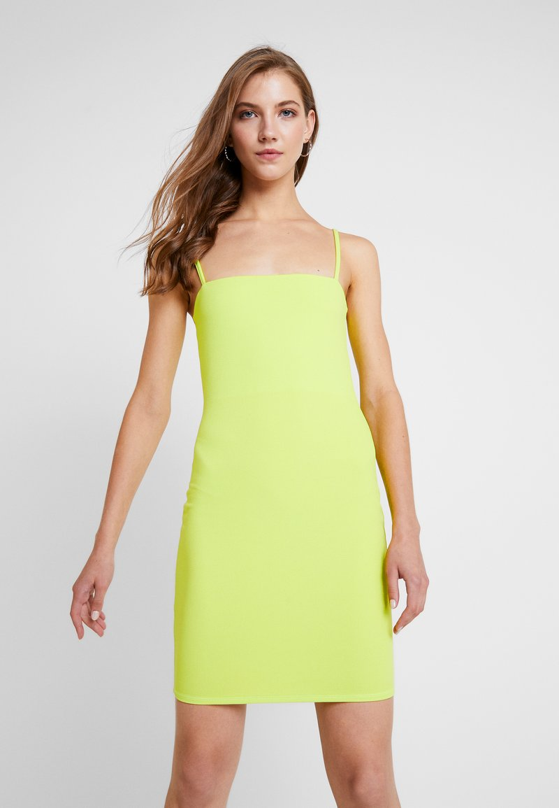 Nly by Nelly - BASIC STRAP DRESS - Robe fourreau - lime