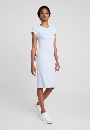 FRILL EDGE MIDI DRESS - Shift dress - light blue