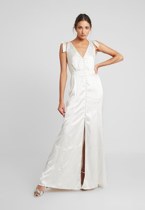 BUTTONING SLIP GOWN - Occasion wear - silver