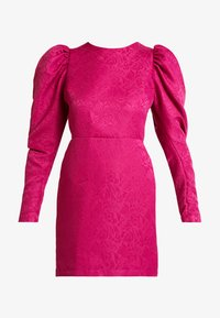 Nly by Nelly - PUFF SLEEVE DRESS - Cocktailjurk - fuchsia - 4