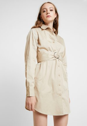OVERSIZE CARGO DRESS - Shirt dress - beige