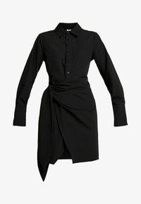 Nly by Nelly - WRAPPED DRESS - Košilové šaty - black - 5