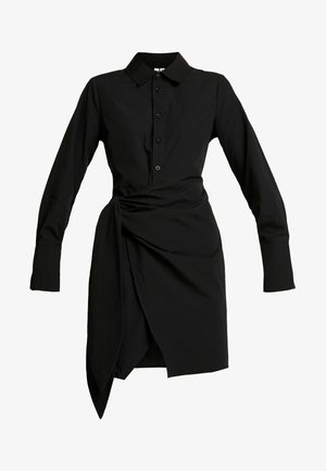 WRAPPED DRESS - Abito a camicia - black