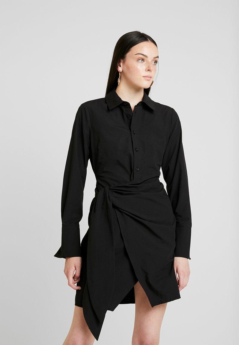 Nly by Nelly - WRAPPED DRESS - Košilové šaty - black
