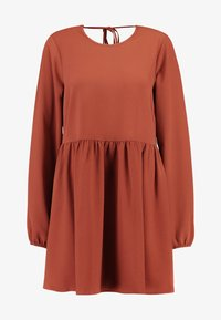 Nly by Nelly - DEEP BACK SHIFT DRESS - Vapaa-ajan mekko - brown - 6