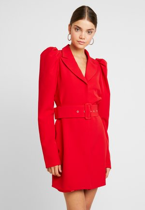 VOLUME SLEEVE SUIT DRESS - Denní šaty - red