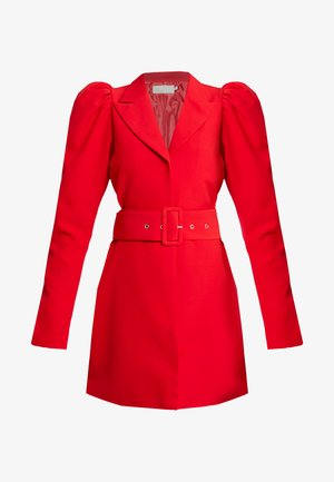 VOLUME SLEEVE SUIT DRESS - Robe d'été - red