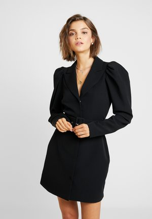 VOLUME SLEEVE SUIT DRESS - Vestido informal - black