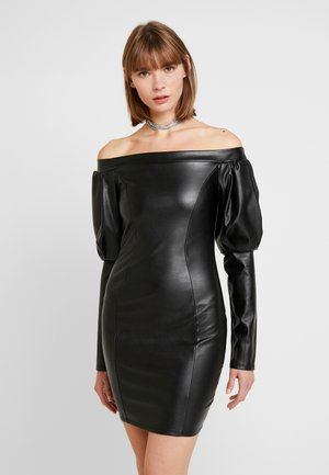 VOLUME SLEEVE DRESS - Etui-jurk - black