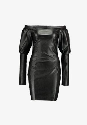 VOLUME SLEEVE DRESS - Shift dress - black