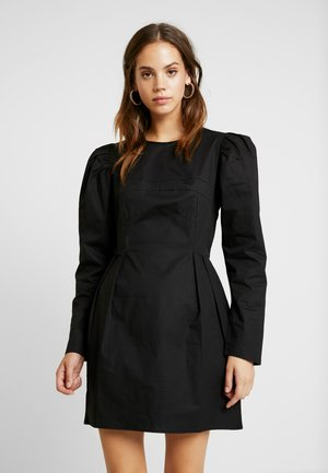 SCULPTURED PUFF DRESS - Denní šaty - black