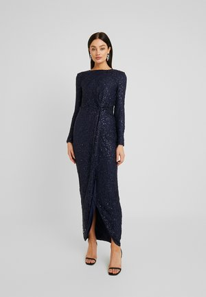 SEQUIN GOWN - Galajurk - navy