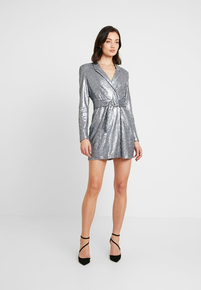 FABULOUS SEQUIN SUIT DRESS - Cocktailkleid/festliches Kleid - antracite