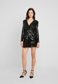 Nly by Nelly - FABULOUS SEQUIN SUIT DRESS - Cocktailkjole - black - 0