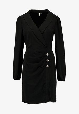 HIGH SLIT SUIT DRESS - Vestido de cóctel - black