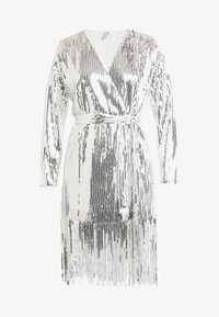 Nly by Nelly - WRAP FRINGE SEQUIN DRESS - Cocktail dress / Party dress - silver - 5