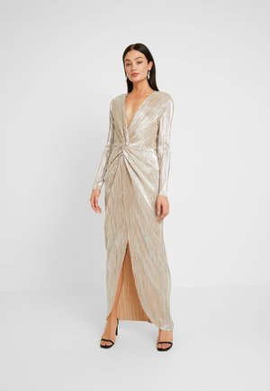 TWISTED SHINY GOWN - Robe de cocktail - gold
