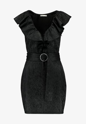 FLIRTY DECO DRESS - Vestido de cóctel - black