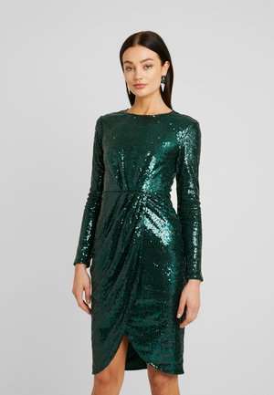 PADDED SEQUIN DRESS - Cocktailkjole - green