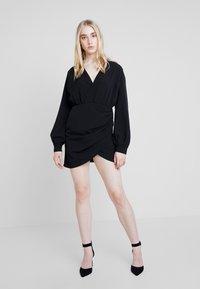 Nly by Nelly - WRAP ON DRESS - Robe d'été - black - 2